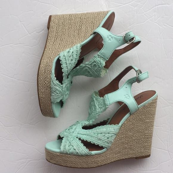 a68644bd8a6 Lucky Brand Shoes - Lucky brand ridgeview mint green crocheted wedges